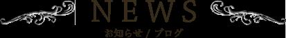 NEWS お知らせ / ブログ